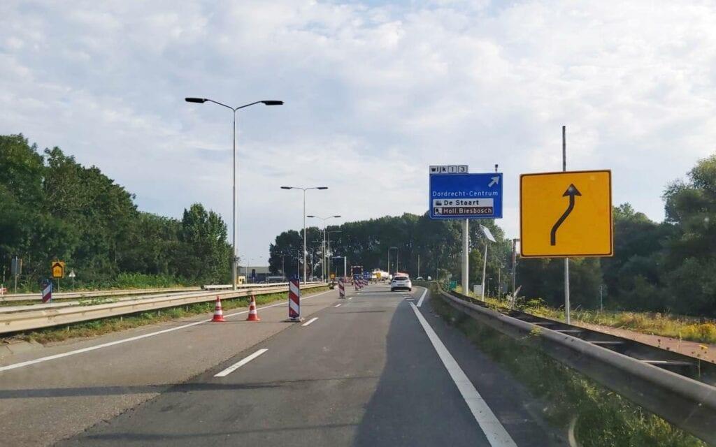 N3 afsluiting wegwerkzaamheden wegopbrekingen Dordrecht