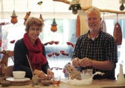 Connie en Bert Braanker - keramiek cadeauwinkel de Kleister Dordrecht Voorstraat West