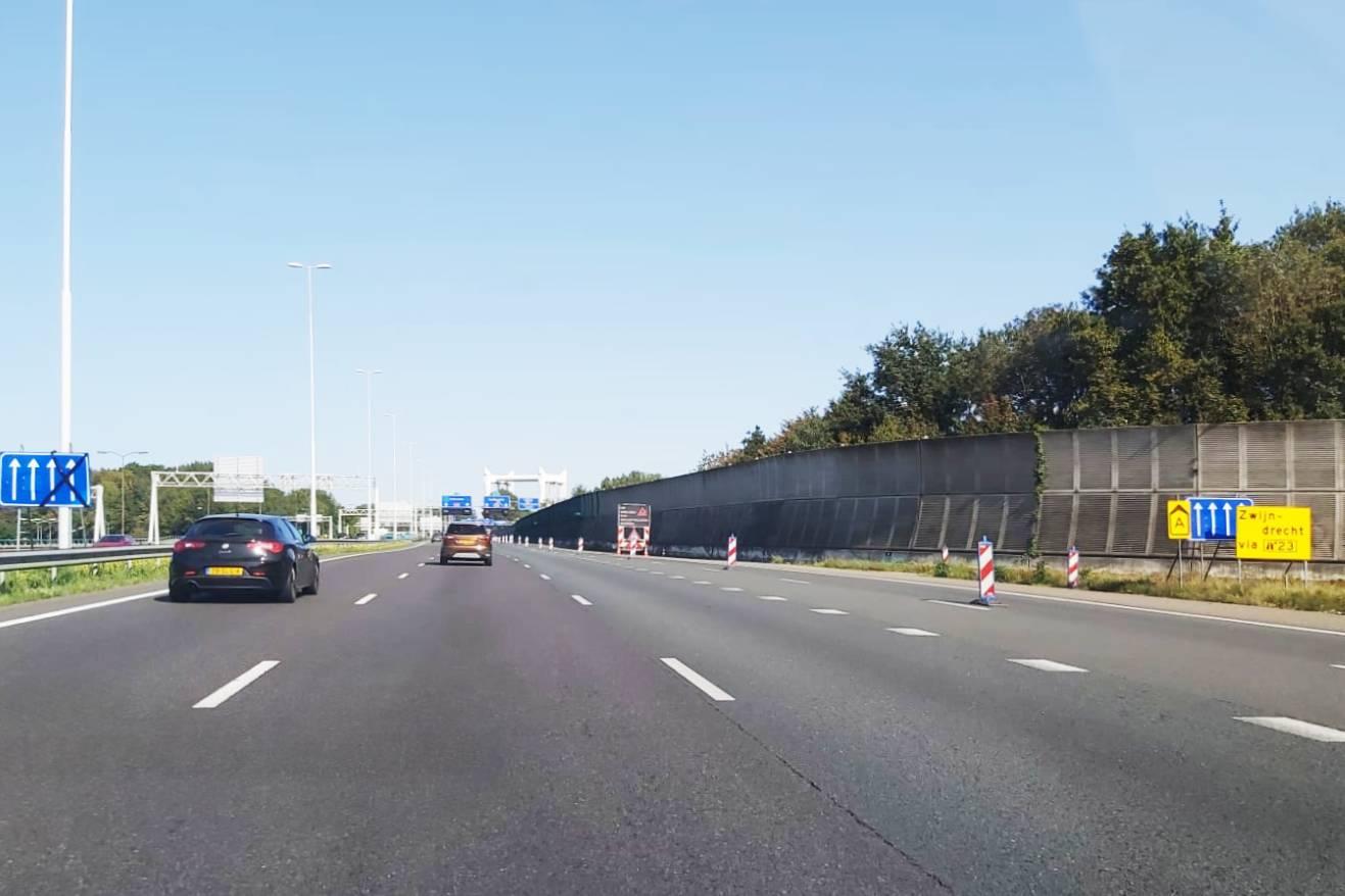 Wegwerkzaamheden Dordrecht Drechttunnel A16