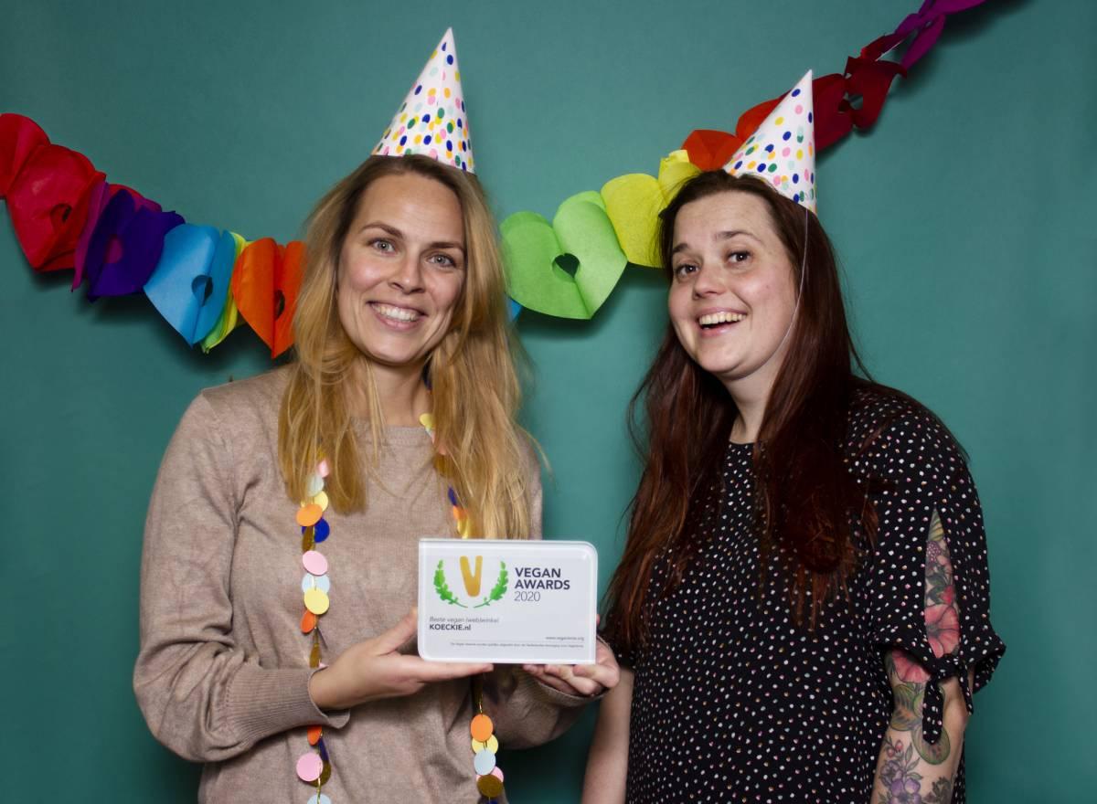 Vegan Awards 2020 beste (web)winkel Judith en Madelon KOECKIE - Mignon Nusteling