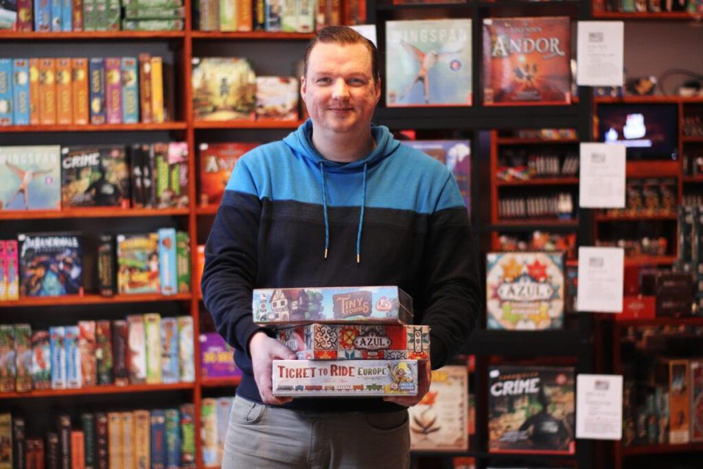 Maico Paschold 4 Your Games spelletjeswinkel Dordrecht in Voorstraat bordspellen Sinterklaas Kerstmis cadeau