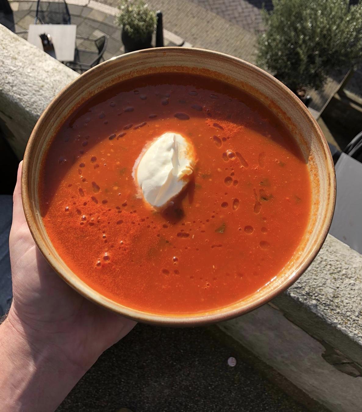 Gezond eten bezorgen bestellen afhalen Dordrecht - Tomatensoep Finn's Eten en drinken Blauwepoortsplein