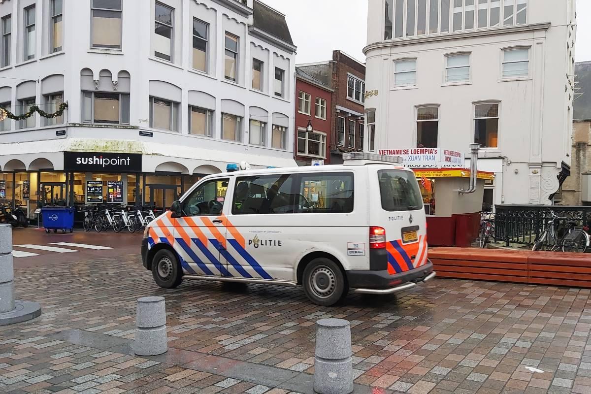 Politie-auto Dordrecht Visbrug