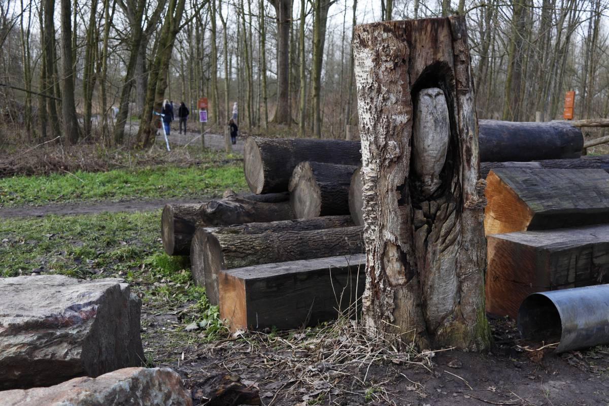 Speelbos De Elzen parkeerplaats wandelen Dordrecht Nieuwe Dordtse Biesbosch