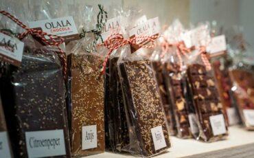Olala Chocola chocolatier chocoladewinkel Dordrecht Voorstraat-Noord chocoladerepen