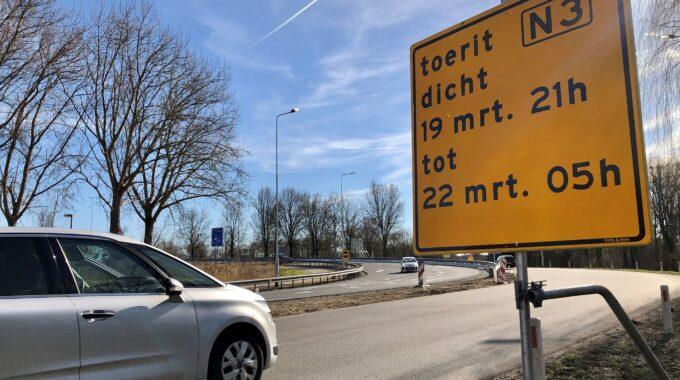 Afsluiting N3 Dordrecht wegwerkzaamheden verkeer omrijden