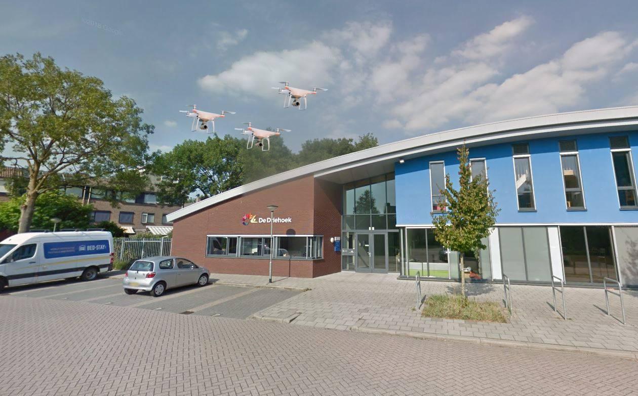 1 april 2021 grap Dordrecht Jenaplanschool De Driehoek drones oppas