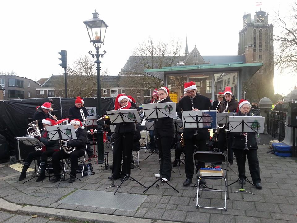 Drechtstad Muziekvereniging kerstband Kerstmarkt Dordrecht