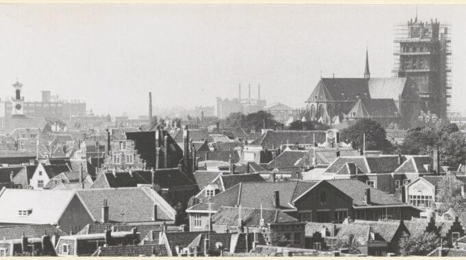 Panorama Dordrecht binnenstad 1959