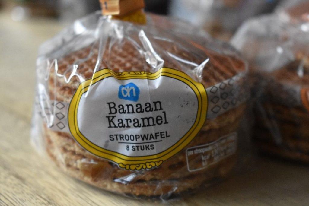 banaan karamel stroopwafel