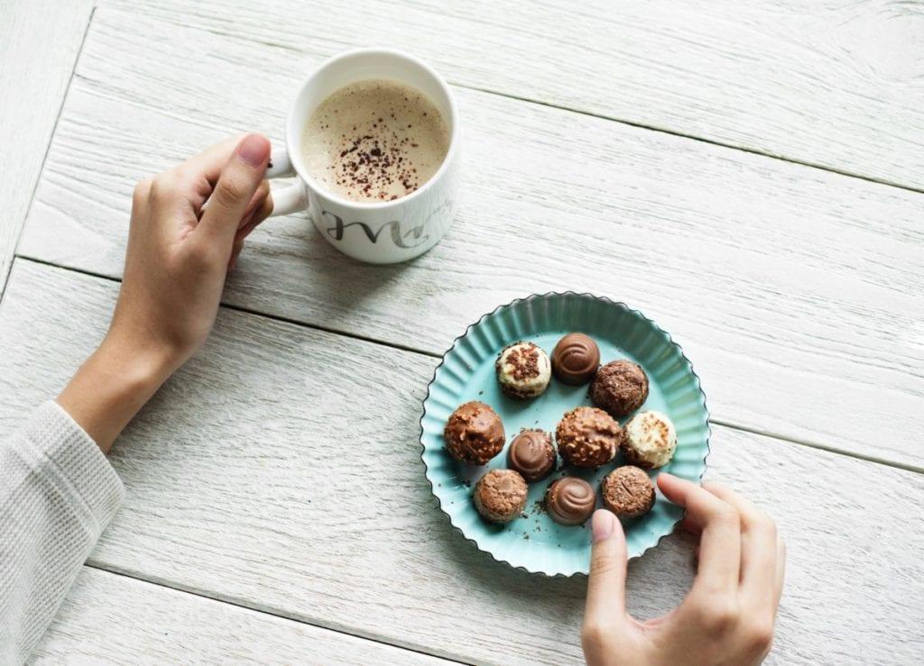 chocolade bonbons koffie