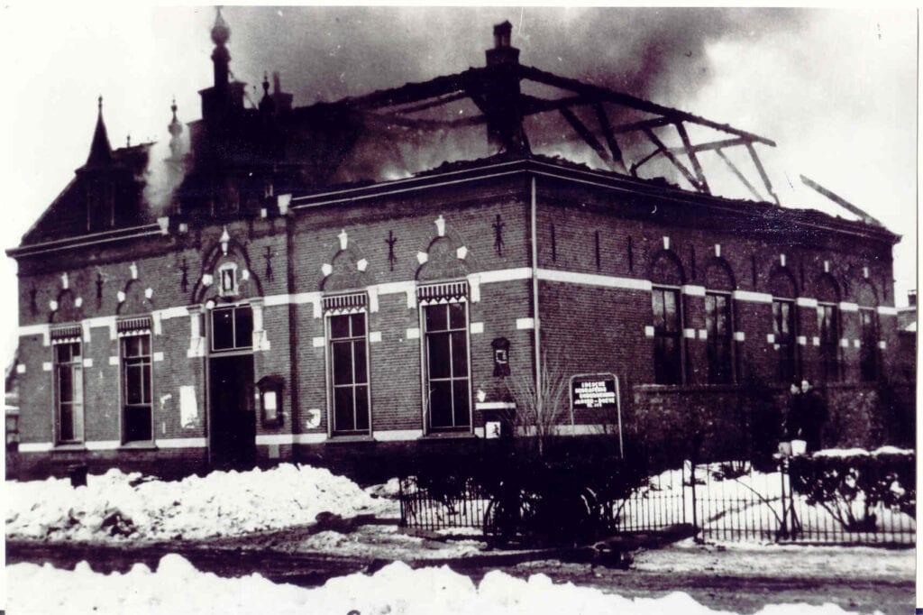 Gemeentehuis 1942 brand
