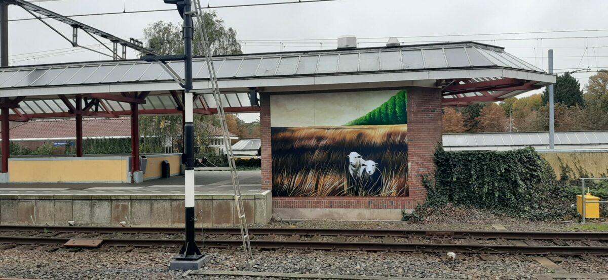 Street art bij station Ede-Wageningen