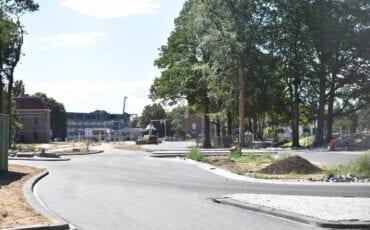 De aanleg van de Parklaan vlakbij de Klinkenbergerweg