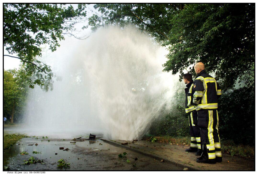 Waterleiding gesprongen