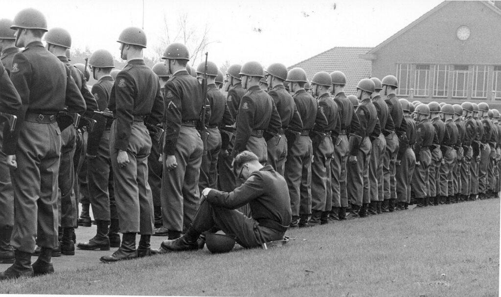 Soldaten op appel