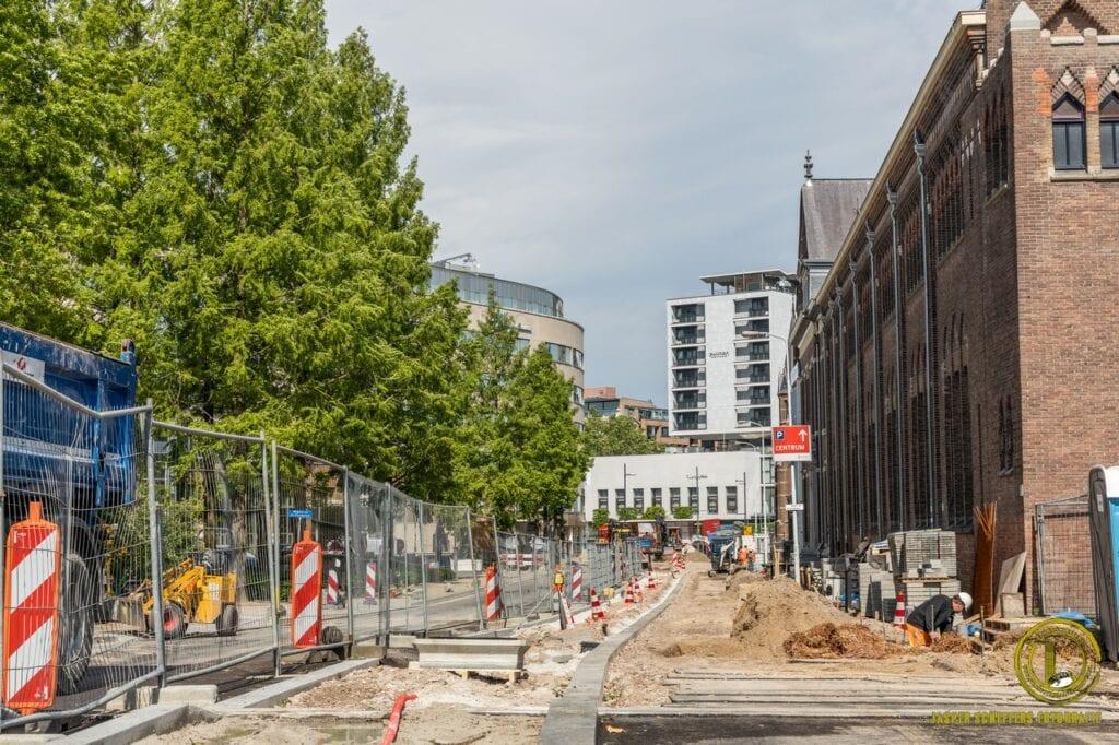 Werkzaamheden aan de Kanaalstraat.
