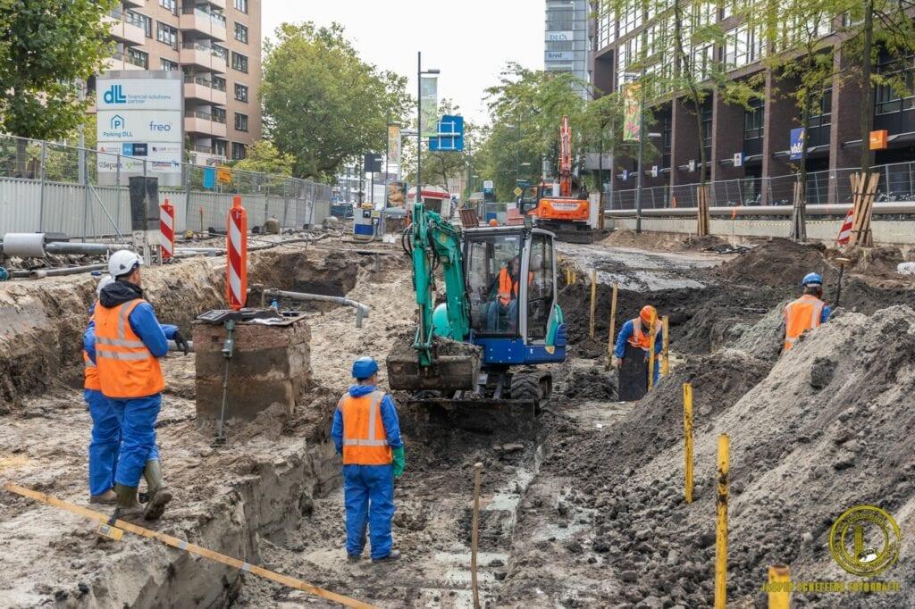 Afgraven vervuilde grond Vestdijk