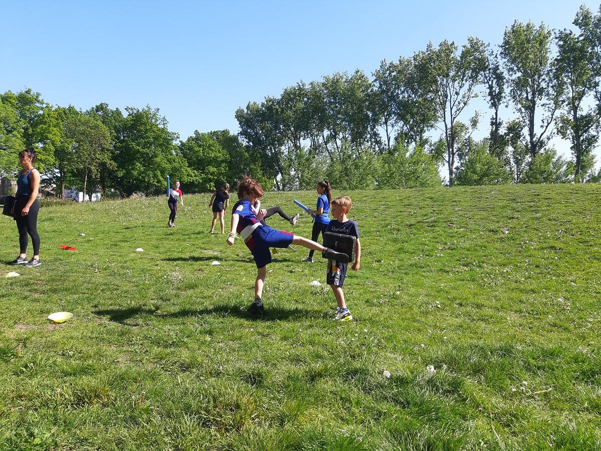 Sporten in het park