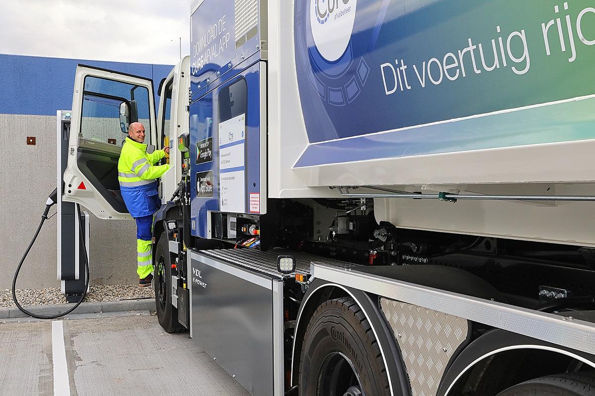Elektrische vuilniswagen