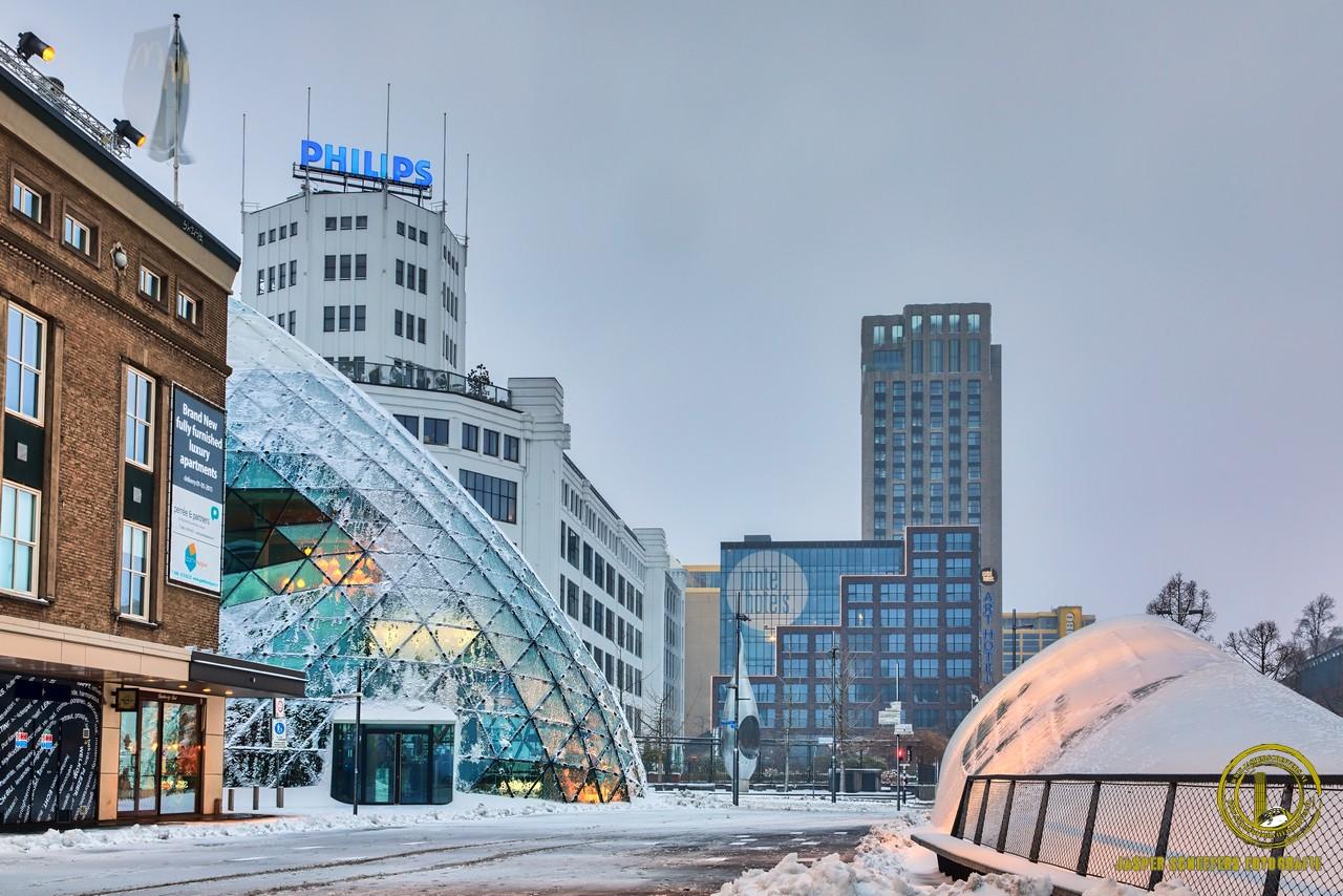 eindhoven sneeuw binnenstad centrum 2021