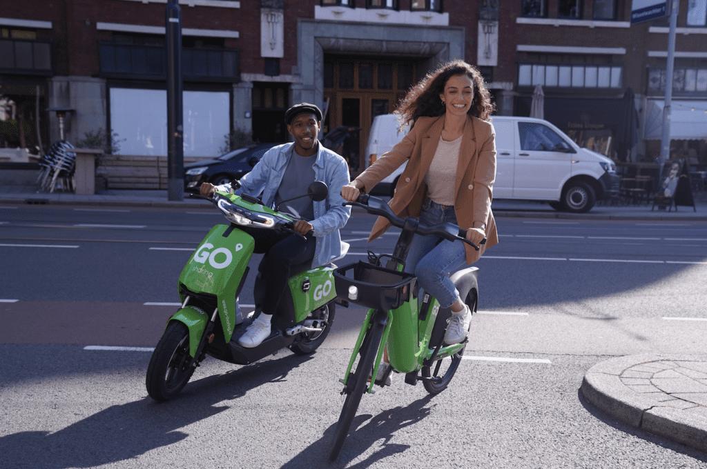 elektrische deelfietsen go-sharing e-bike