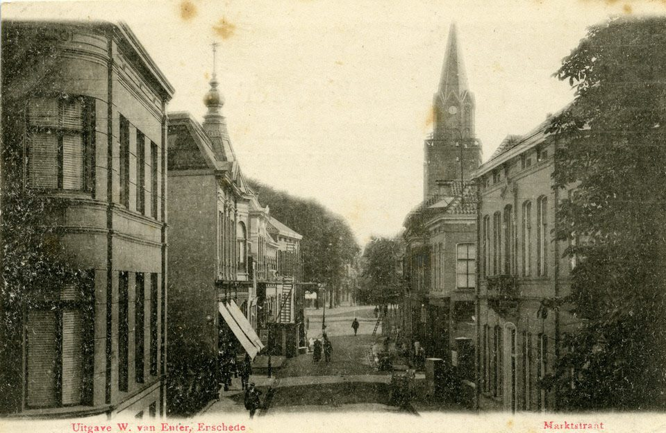 marktstraat toren grote kerk enschede