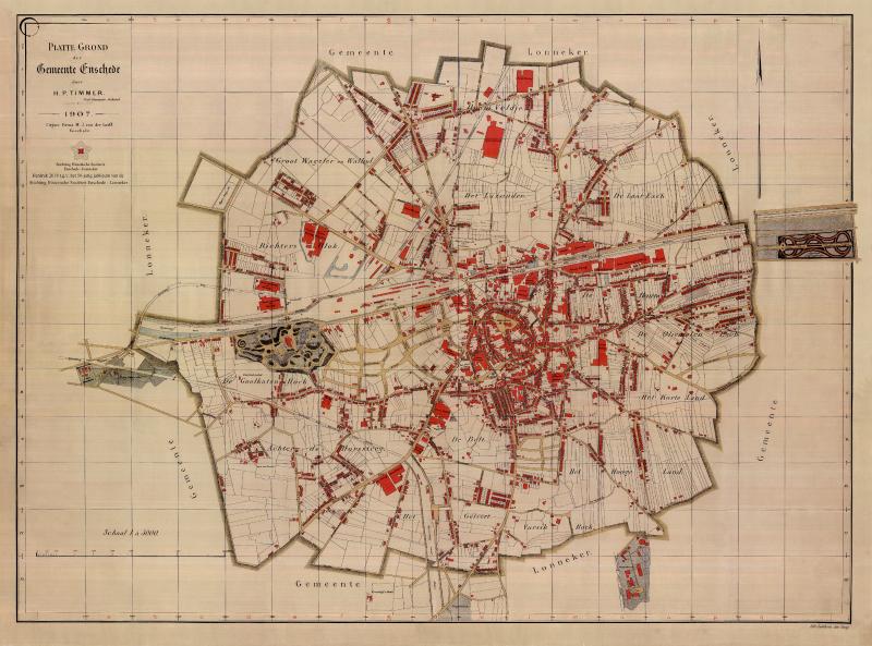 oude plattegrond enschede