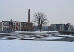 sneeuw enschede vijver