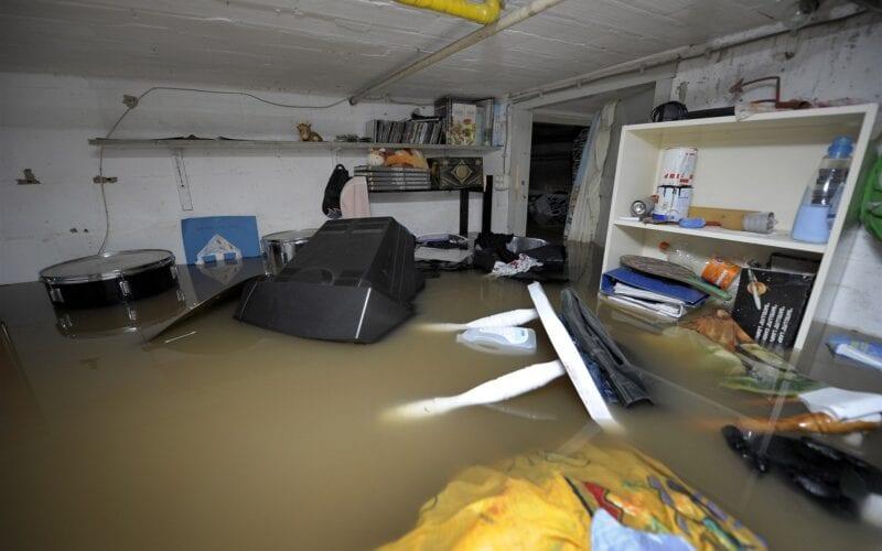 waterschade ondergelopen kelder