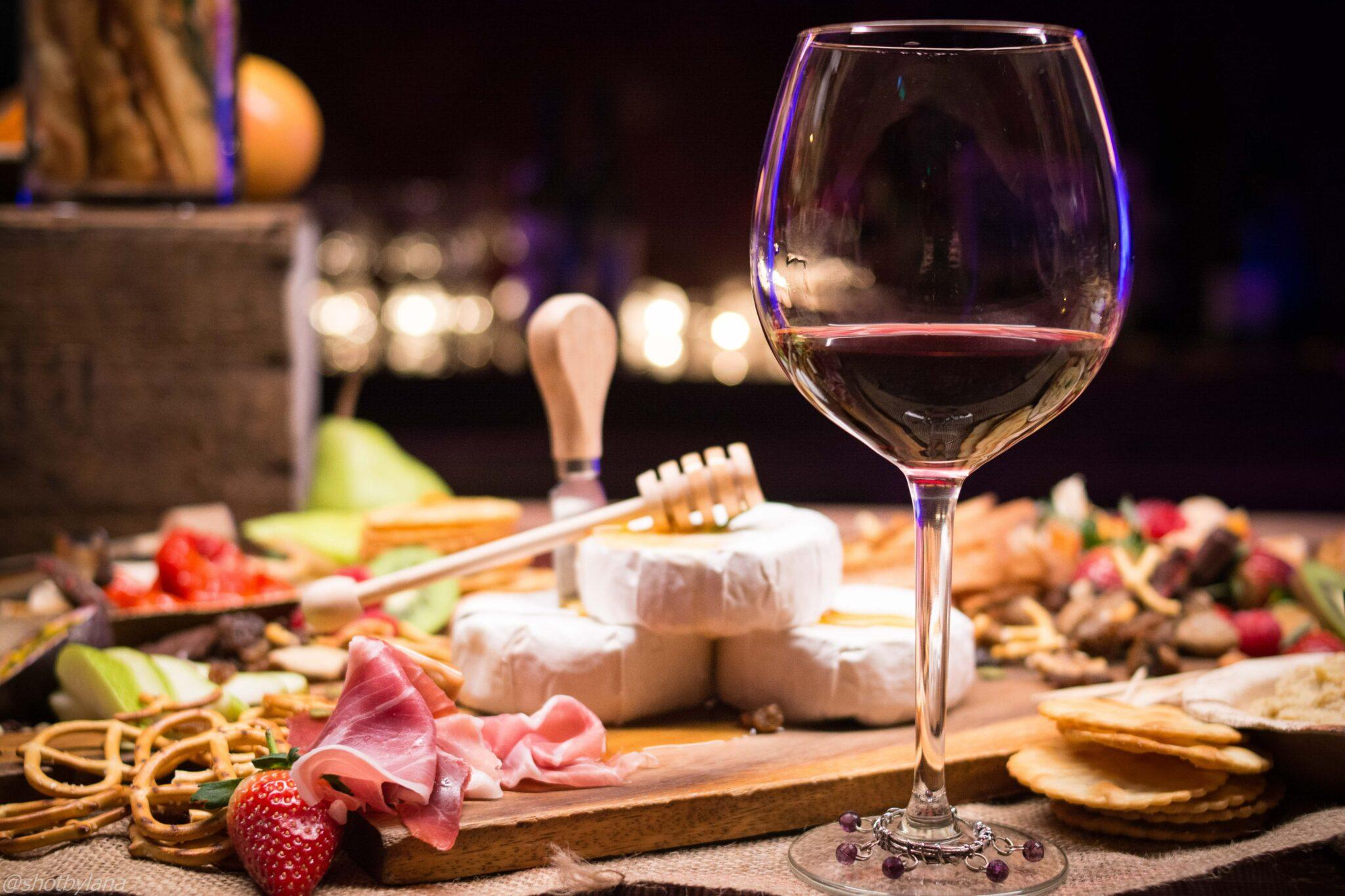 borrelplank wijn