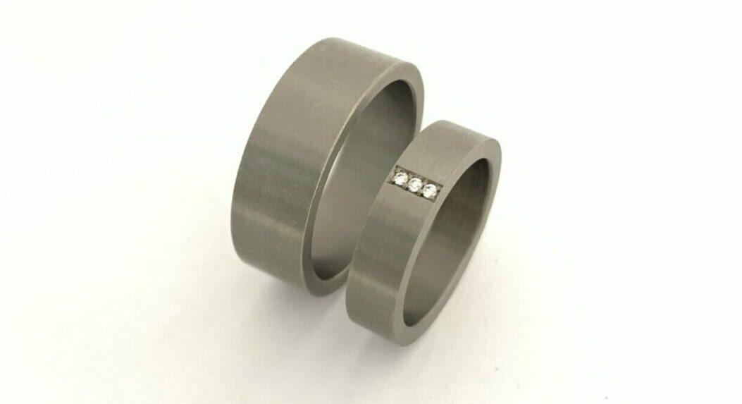 titanium trouwring