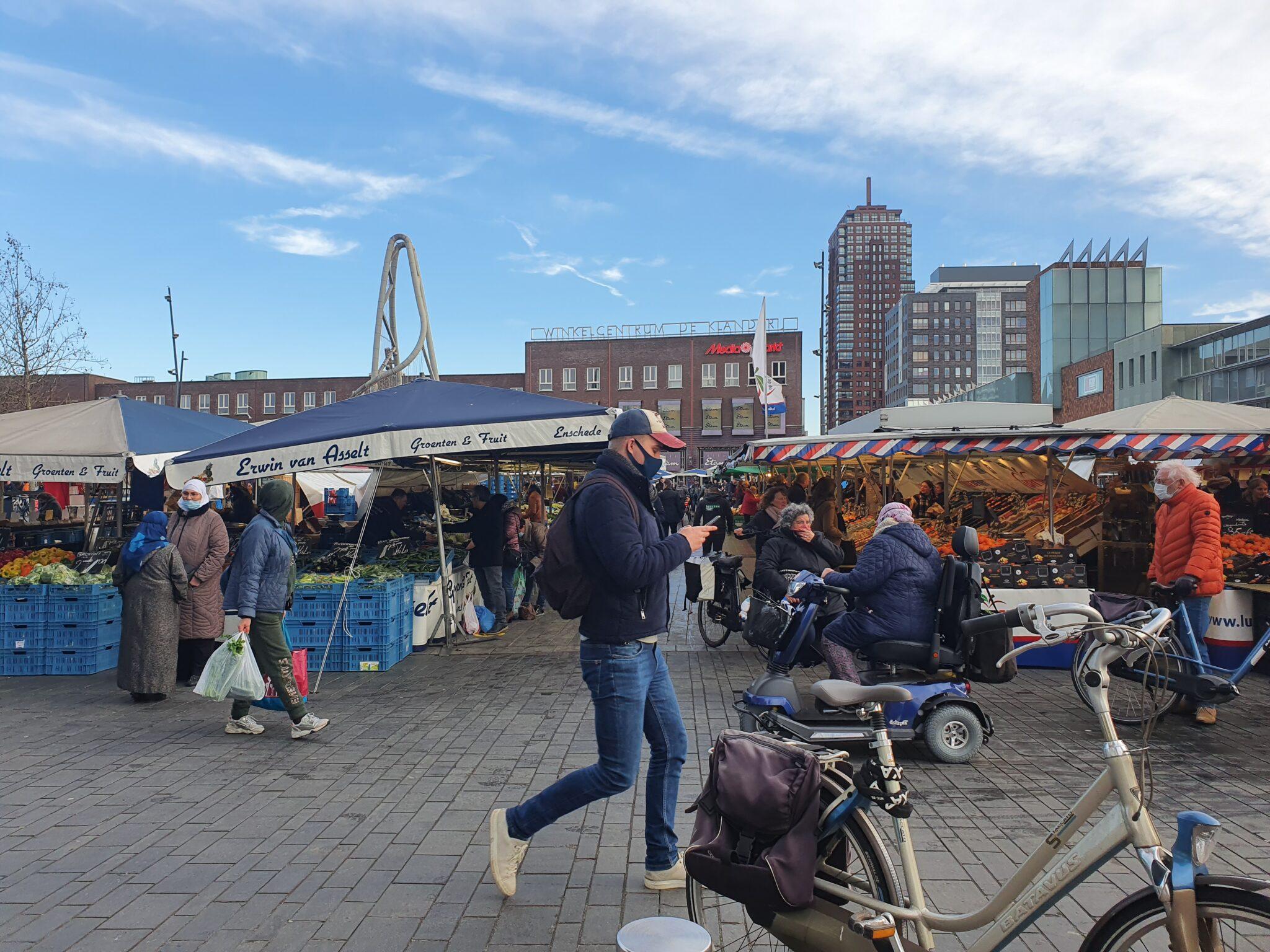 weekmarkt enschede in lockdown