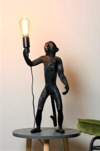 Monkey tafellamp staand zwart