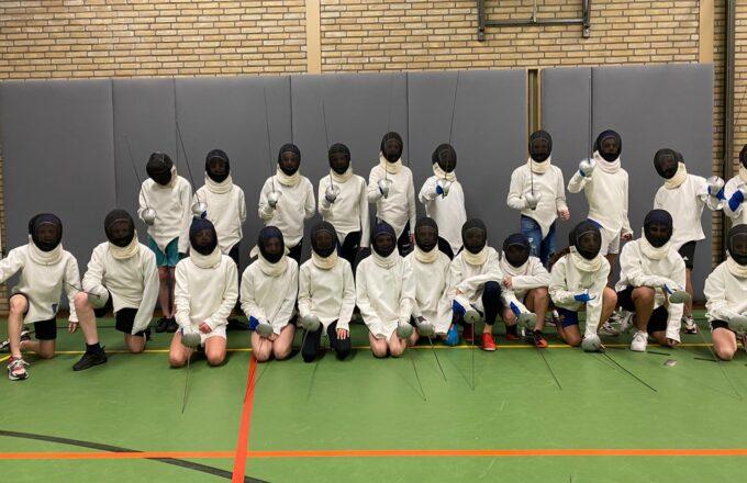 foto 1 schermen sportstroom klas 2