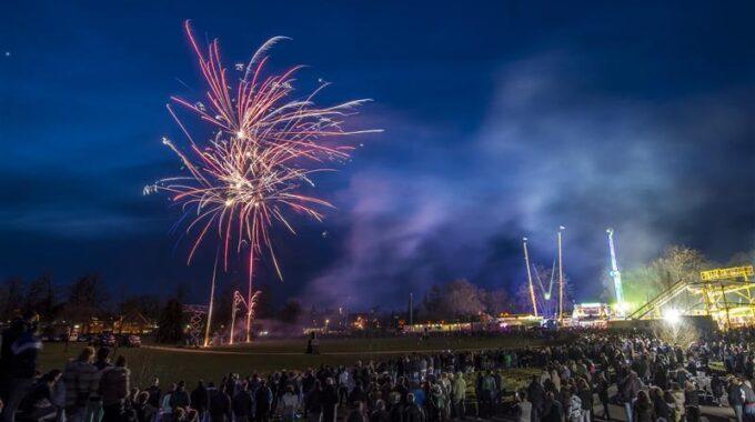 vuurwerkshow volkspark - Reinier van Willigen voor Tubantia