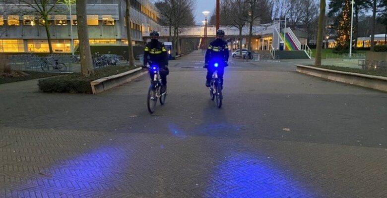 politie blauwe verlichting