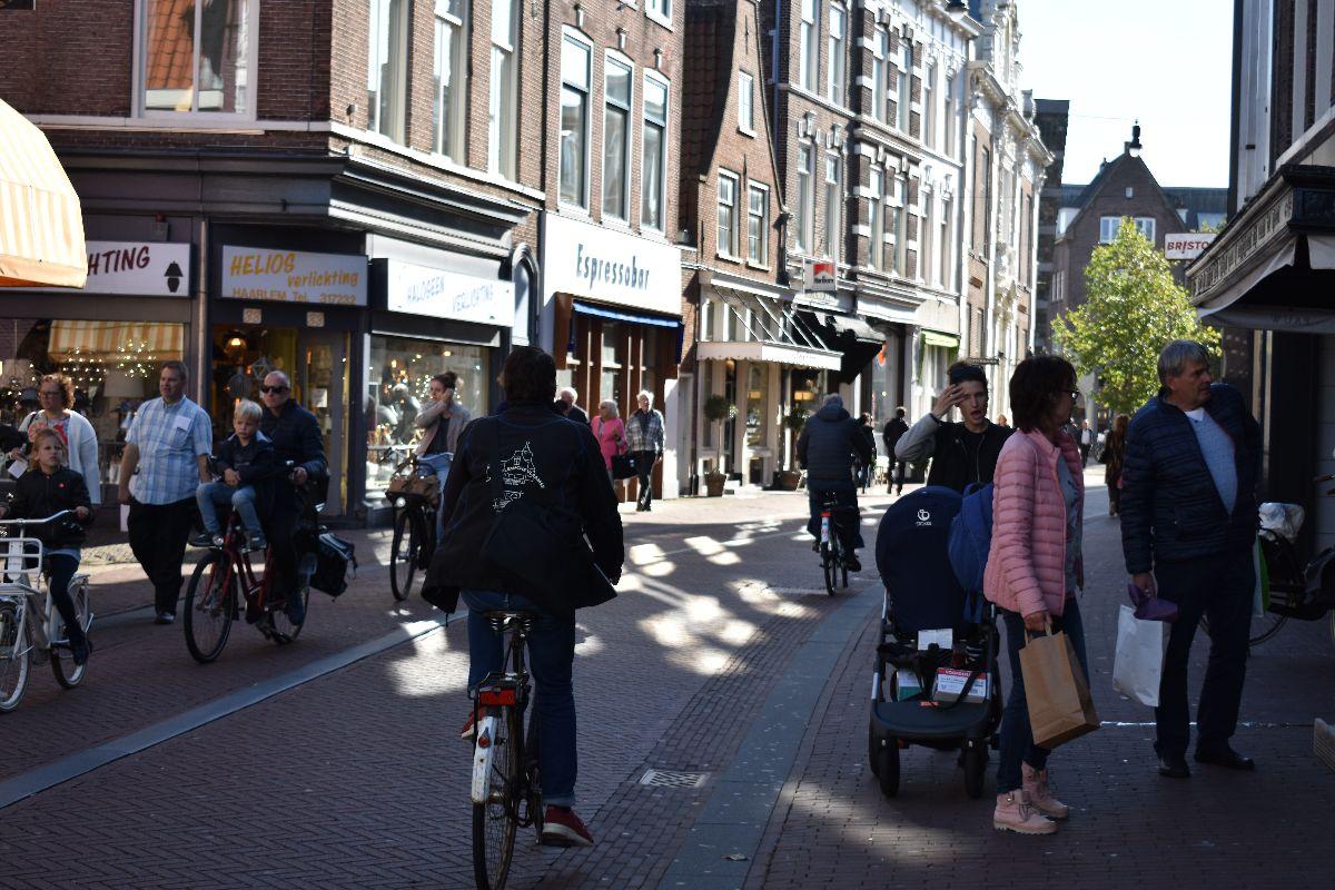 Winkelstraat in Haarlem