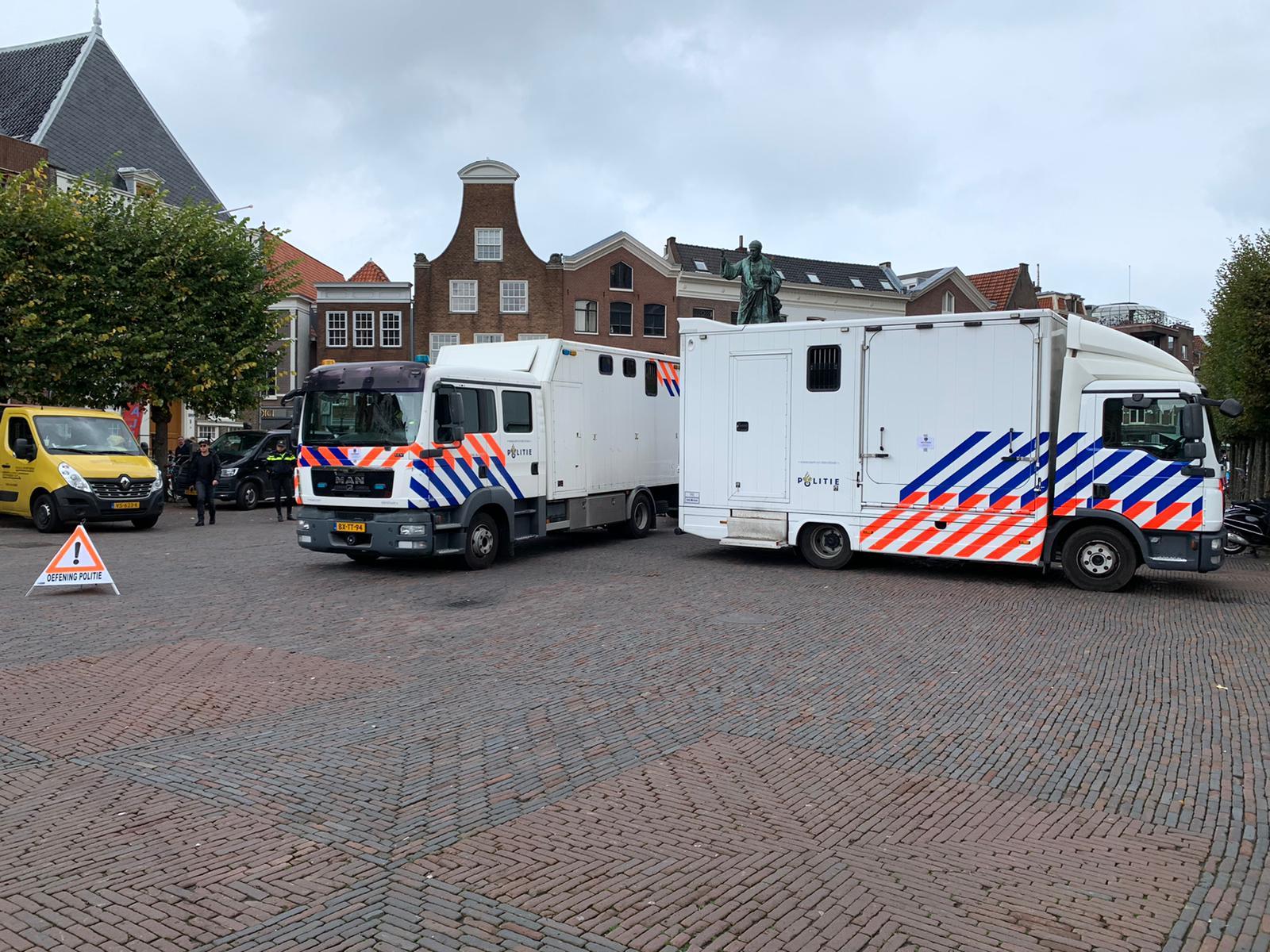 oefening grote markt politie haarlem