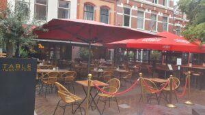 Overdekt terras overdekte terrassen Haarlem Café Colette