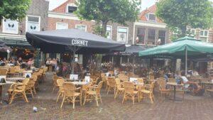 Overdekt terras overdekte terrassen Haarlem Café de Gooth en Café Roemer