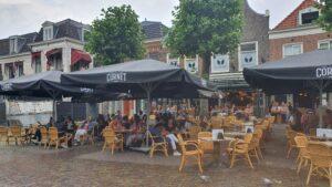 Overdekt terras overdekte terrassen Haarlem Café Roemer