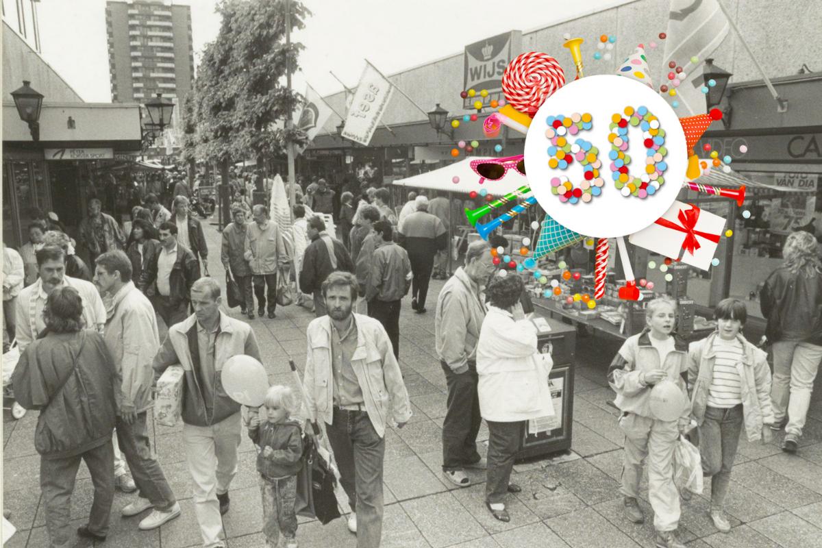 Centrum Schalkwijk in 1990   foto: Noord-Hollands Archief
