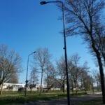 Zwarte kastjes lantaarnpalen Helmond