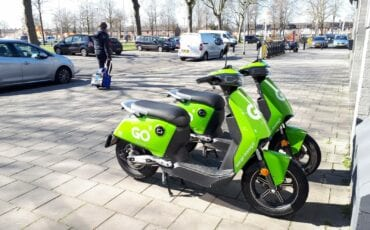 GO Sharing groene scooters deelscooters
