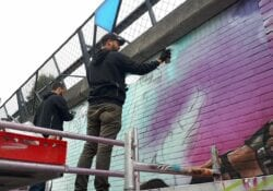 Muurschildering Kasteel-Traverse mural streetart