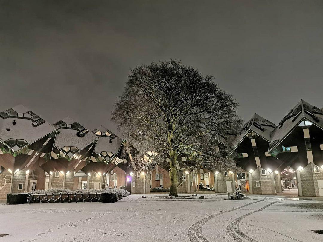 Sneeuw Helmond kubuswoningen helmond_fotos