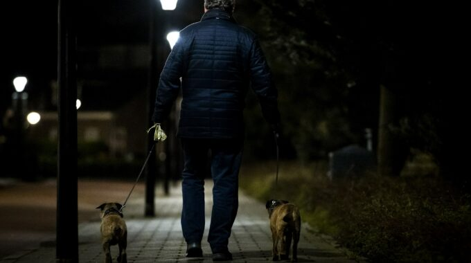 ANP-427393216 hond uitlaten avondklok