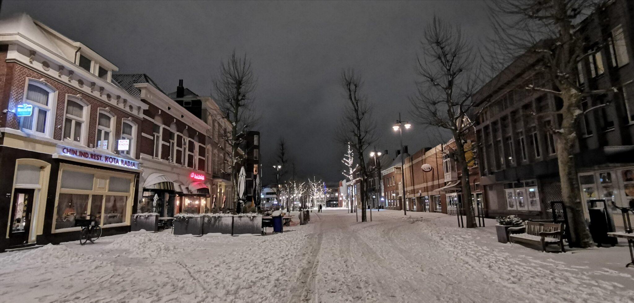 Helmond sneeuw winter Markt