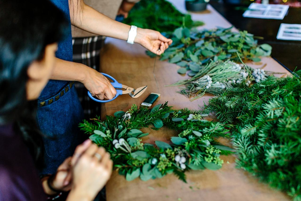 kerst workshop kerststukje kerstkrans